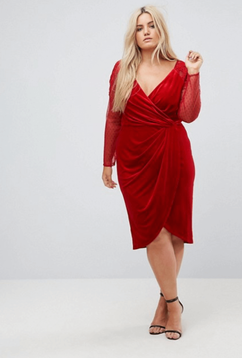 Asos Curve-xmas party dress