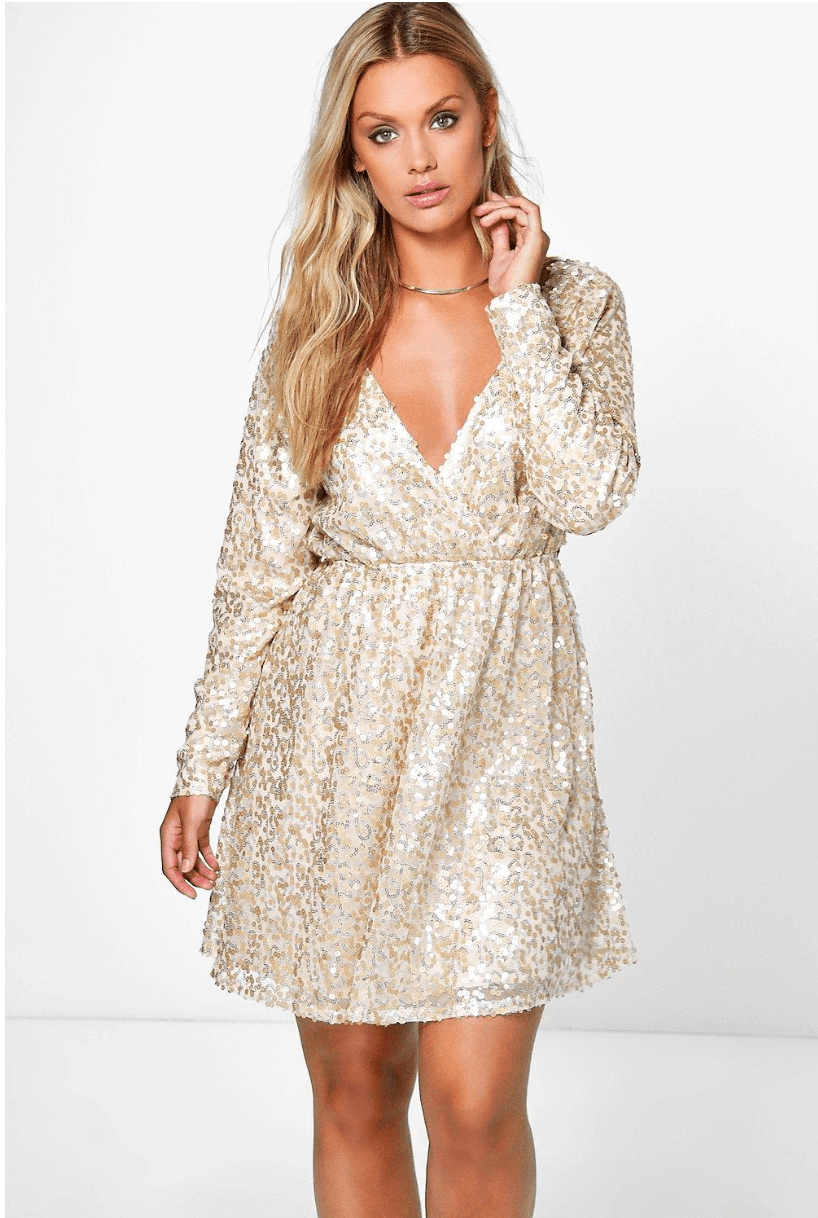 Boohoo plus size xmas party dress