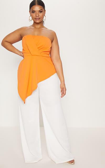 PLT orange top full body
