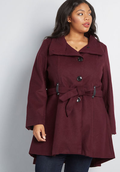 Tartberry plus size coat
