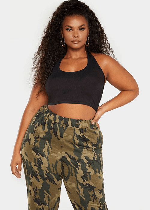 What to wear for the straight up and down body shape halterneck crop top