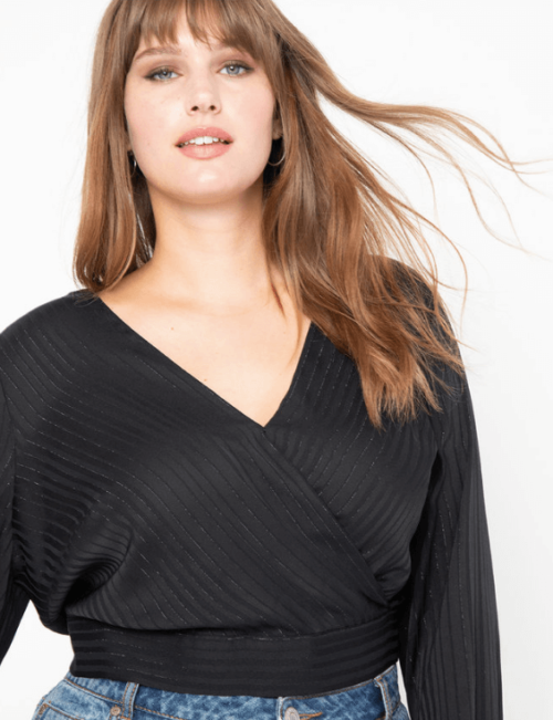 What to wear for the strawberry body shape Eloquii faux wrap top