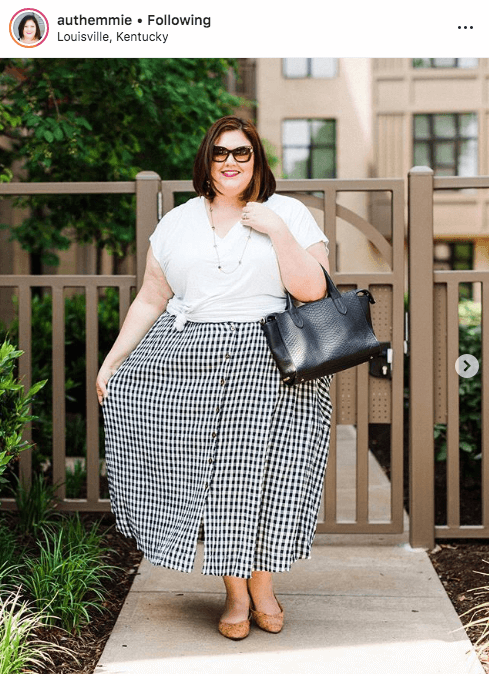 top 100 US plus size bloggers authentically emmie