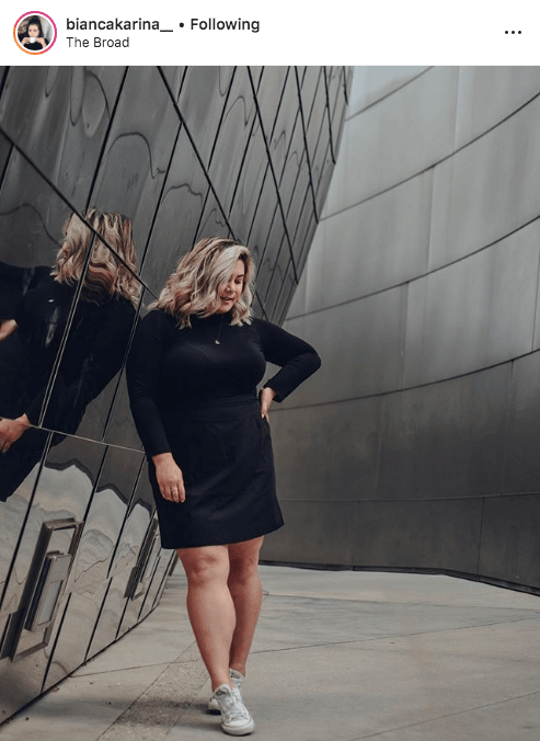 top 100 US plus size bloggers bianca karina