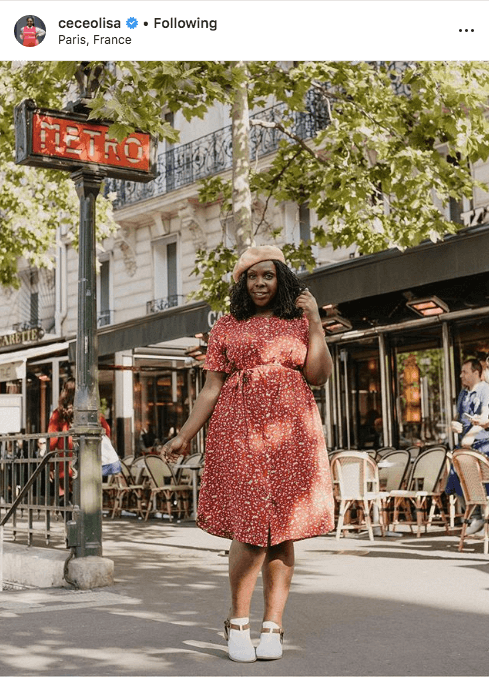 top 100 US plus size bloggers cece olisa
