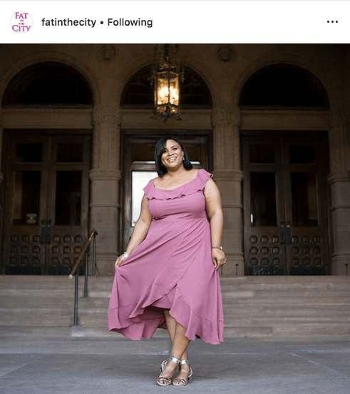 top 100 US plus size bloggers fat in the city