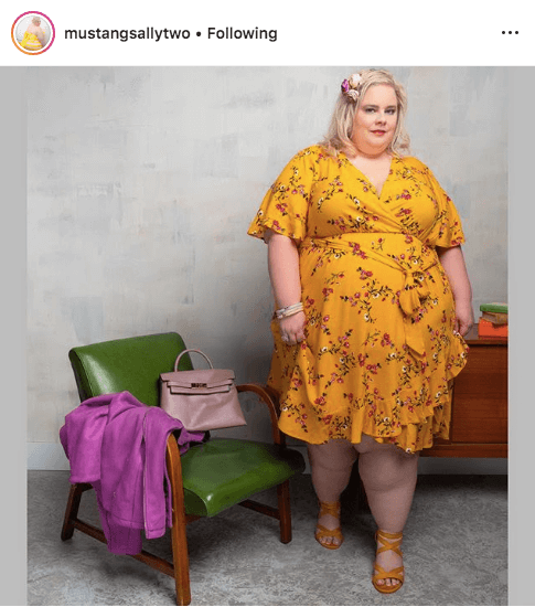 top 100 US plus size bloggers mustang sally two