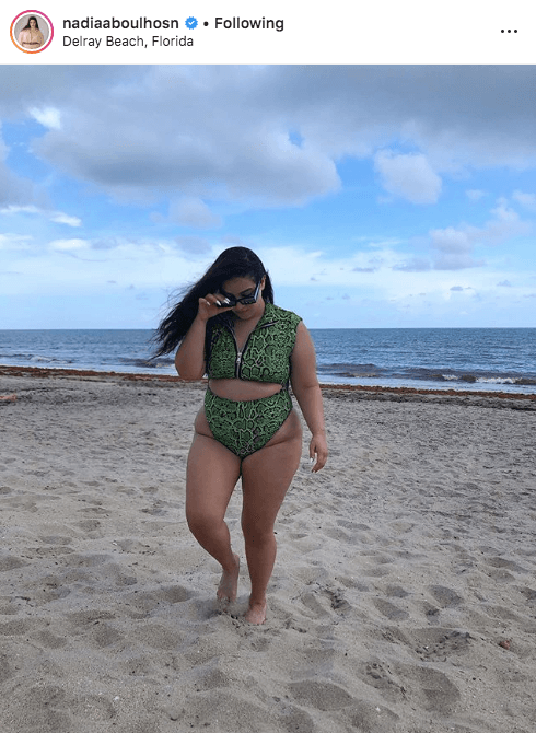 top 100 US plus size bloggers nadia abhoulosn
