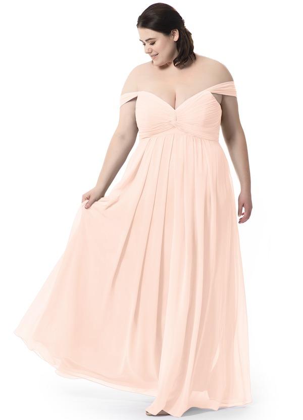 Azazie plus size gown dress