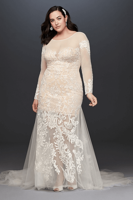 David's Bridal plus size dress 2