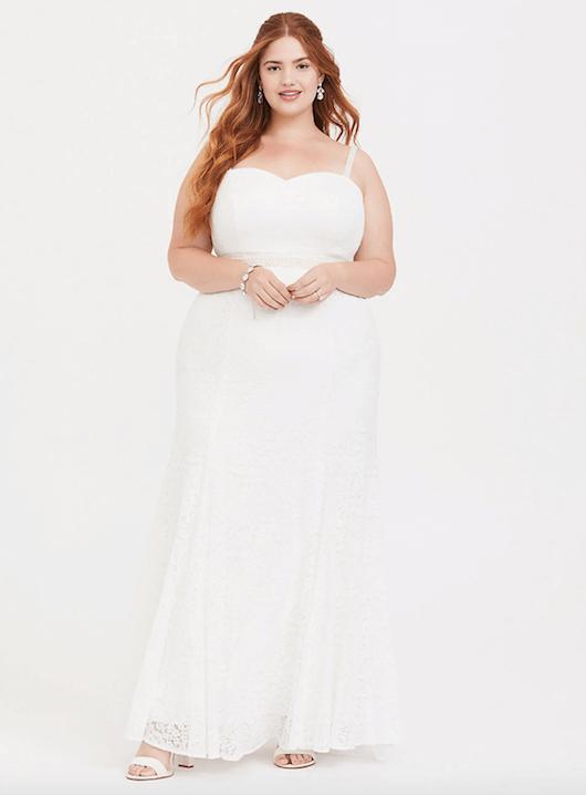 torrid wedding dress plus size
