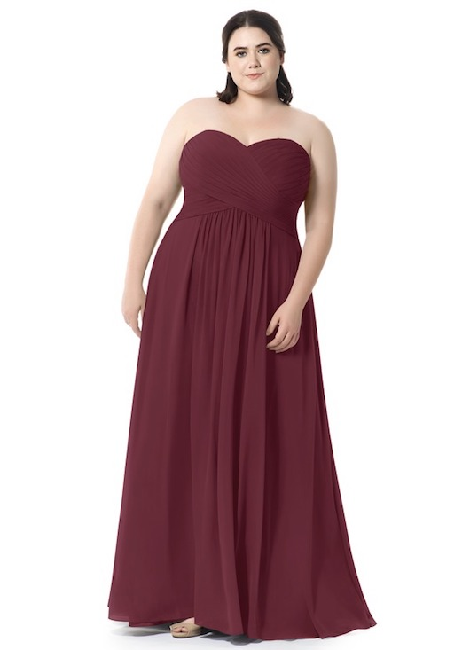 azazie wine dress