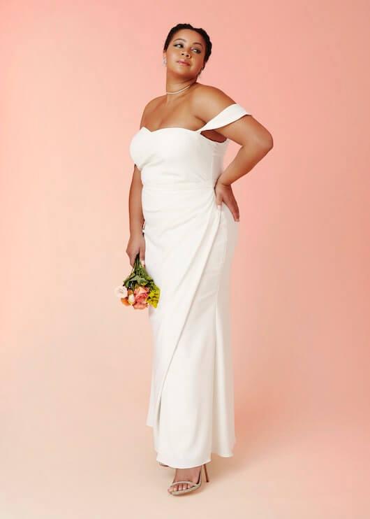davids bridal plus size dress