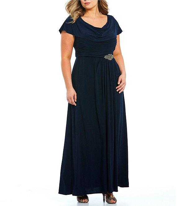 dillards black tie gown