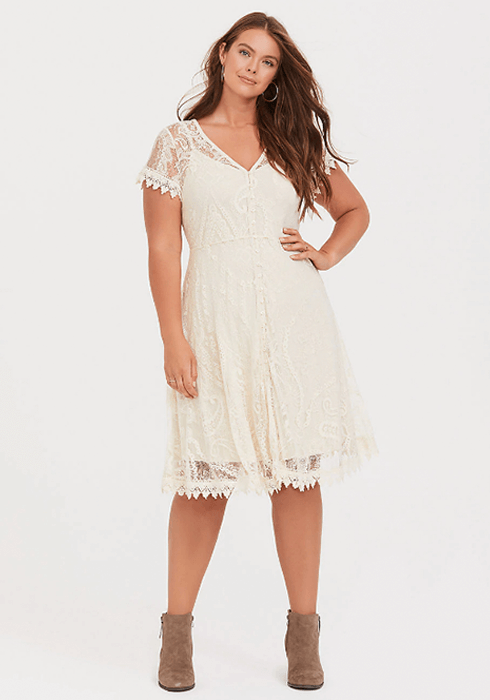 Californai Dreaming Style Lace and Crochet Dress Torrid