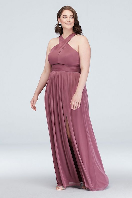 plus size bridesmaids dress blush