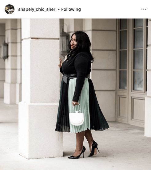 top 100 US plus size bloggers shapely chic sheri
