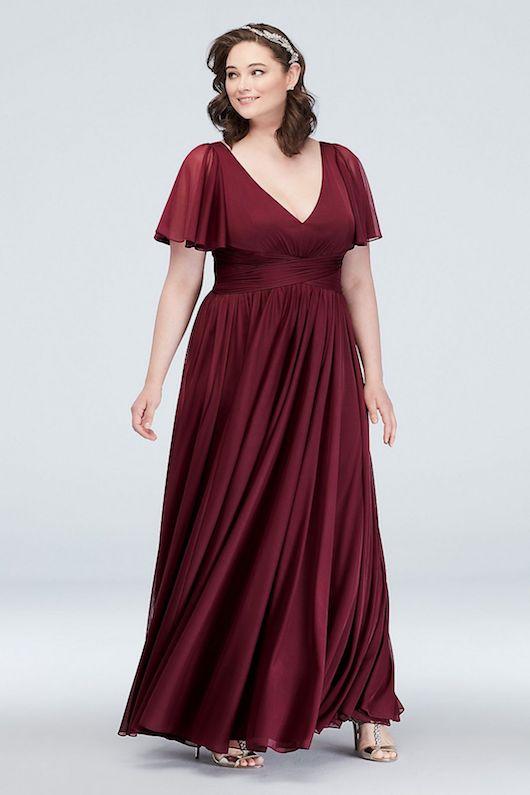 wine bridesmaid dress davids bridal
