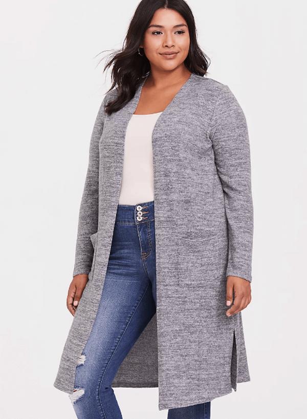 fall knitwear torrid longline cardigan