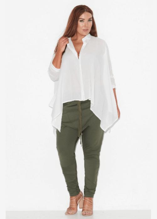 stylish plus size tops for women over 50 Handkerchief Hem Shirt 17 Sundays