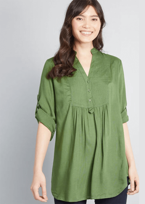 stylish plus size tops for women over 50 Back Road Rumble Tunic Modcloth