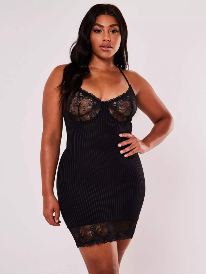 black lace nightgown plus size missguided insyze