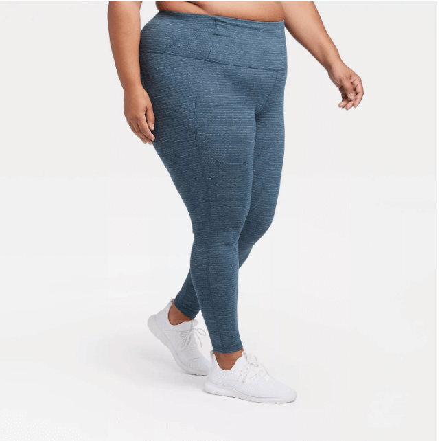 plus size activewear textured leggings