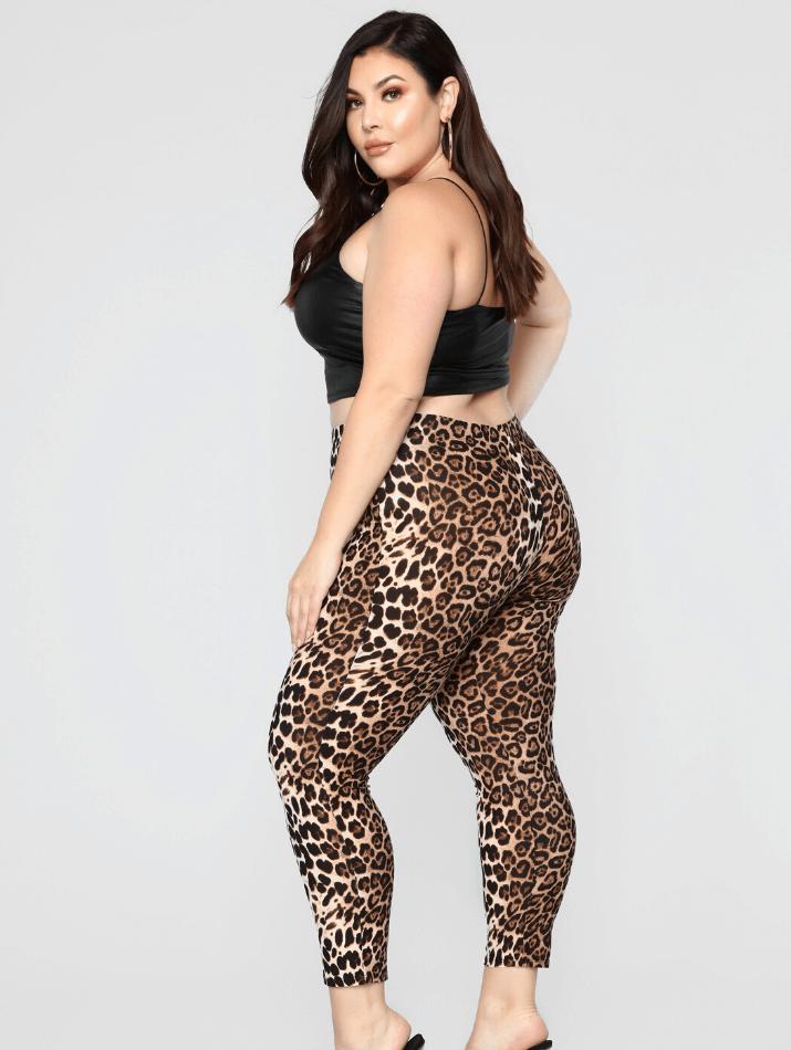 Plus size leopard leggings fashionnova curve