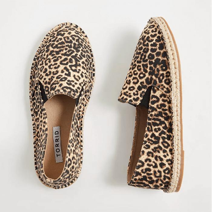 Wide Fit Shoes For Summer Torrid Leopard Canvas Espadrilles