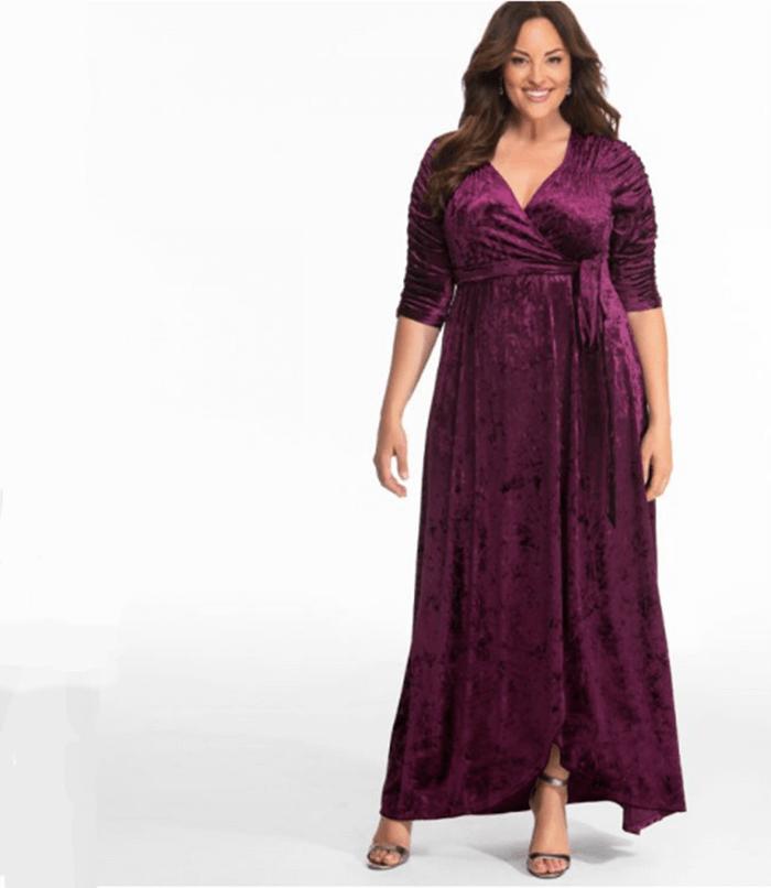 Kiyonna - Cara Velvet Wrap Dress