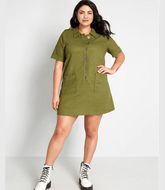 ModCloth - Casual Aspects Linen Blend Dress