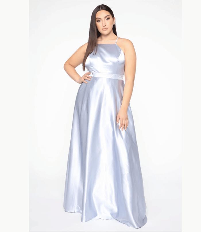 Fashion Nova - Fascinating Satin Dress